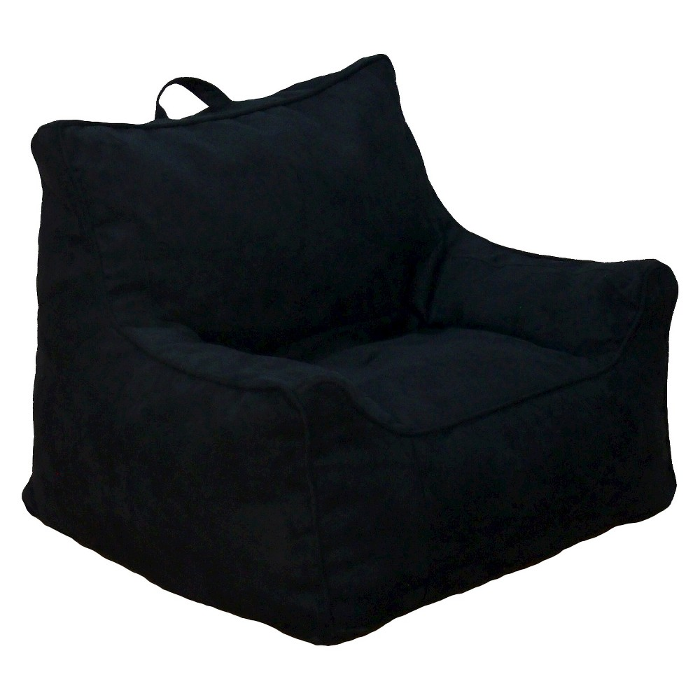 Image of Bean Bag Chair - Black Microsuede - Reservation Seating