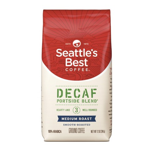 Seattle's Best Coffee Portside Blend Medium Roasted Ground Coffee - Decaf - 12oz - image 1 of 5