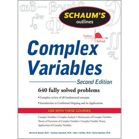 Schaum's Outline of Complex Variables, 2ed - (Schaum's Outlines) 2nd Edition (Paperback) - image 1 of 1