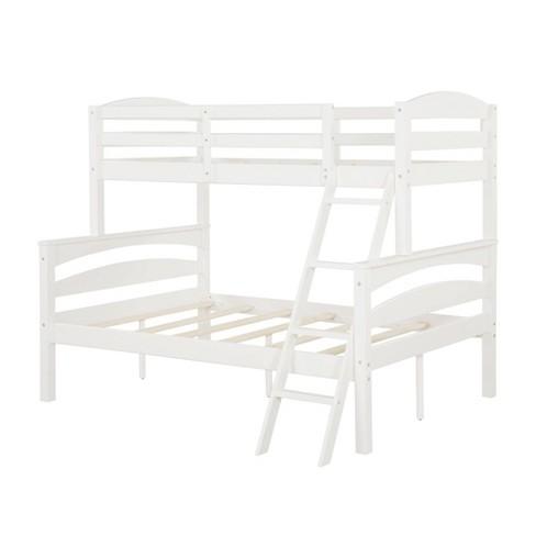 Twin over Full Brady Wood Bunk Bed Frame for Kids' White - Dorel Living - image 1 of 4