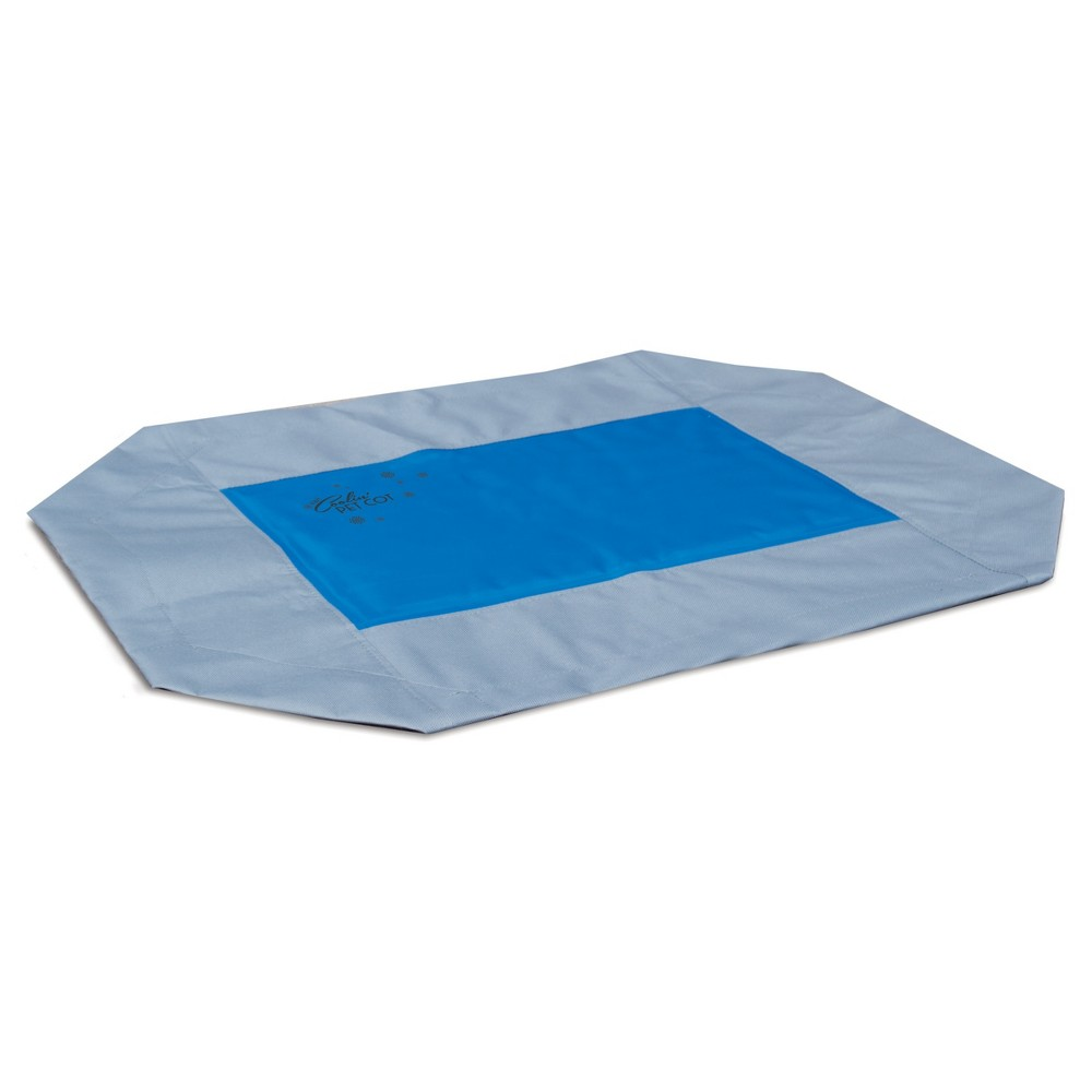 K&h Pet Products Coolin' Pet Cot Cover Large Gray/Blue 30 x 42