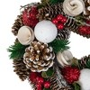 "Northlight 10"" Unlit Frosted Pine Cone, Twigs and Berries Artificial Christmas Wreath - image 3 of 3"