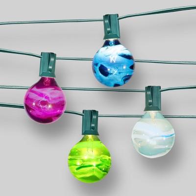 10ct String Lights Marble Pattern - G50 Multi Bulbs - Threshold™