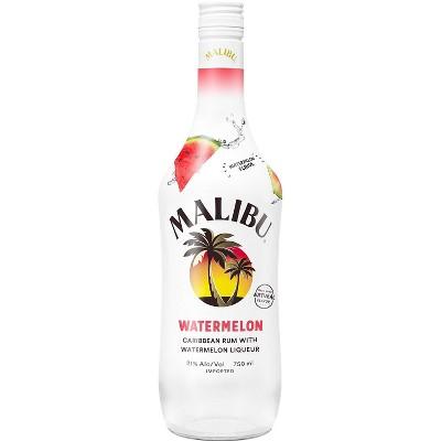 Malibu Watermelon Flavored Caribbean Rum - 750ml Bottle
