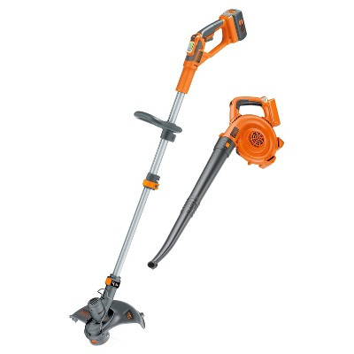 BLACK+DECKER 40V Lithium String Trimmer/Sweeper Combo Orange