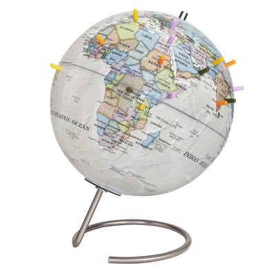 """9"""" Magnetic World Globe Antique Ocean - Waypoint Geographic"""