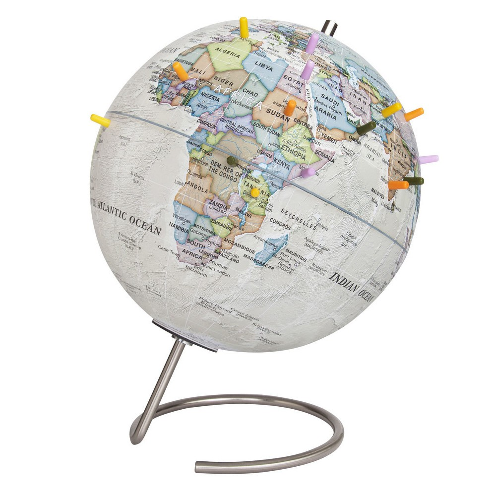"Image of ""9"""" Magnetic World Globe Antique Ocean - Waypoint Geographic"""