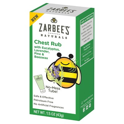 Zarbee's Naturals Chest Rub - Eucalyptus, Lavender, Pine & Beeswax - 1.5oz