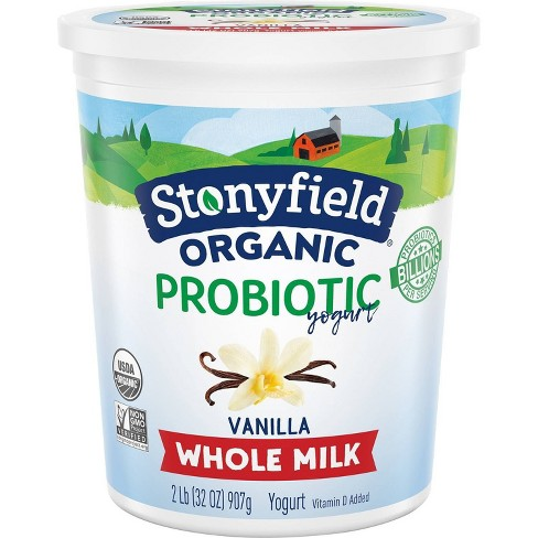 Stonyfield Organic Smooth & Creamy Whole Milk French Vanilla Yogurt - 32oz - image 1 of 4