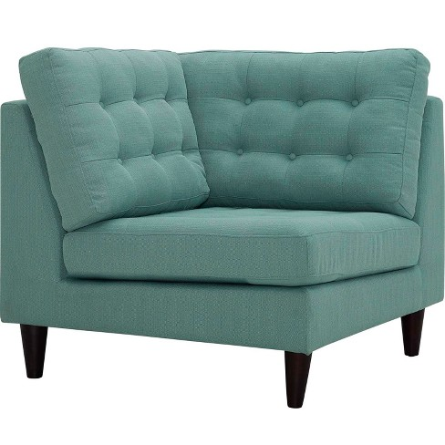 Empress Upholstered Fabric Corner Sofa Laguna - Modway - image 1 of 3