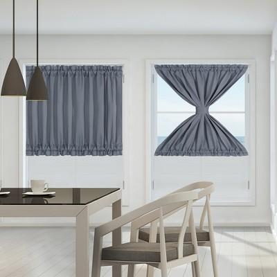 PiccoCasa Blackout Sliding Darkening Door Polyester Curtain Panels 2 Pcs
