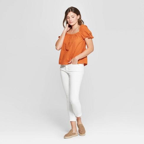 02304c121f4764 Women's Short Sleeve Square Neck Top - Universal Thread™ : Target