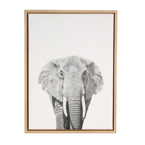Elephant Framed Canvas Art - Uniek : Target