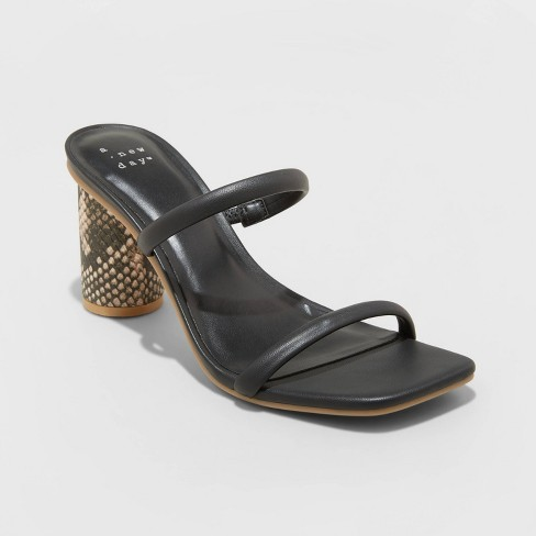 Women's Cass Square Toe Heels - A New Day™ - image 1 of 4
