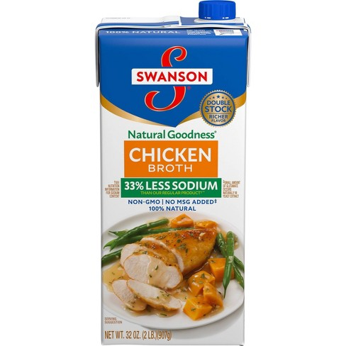 Swanson Gluten Free Low Sodium Chicken Broth - 32 fl oz - image 1 of 4