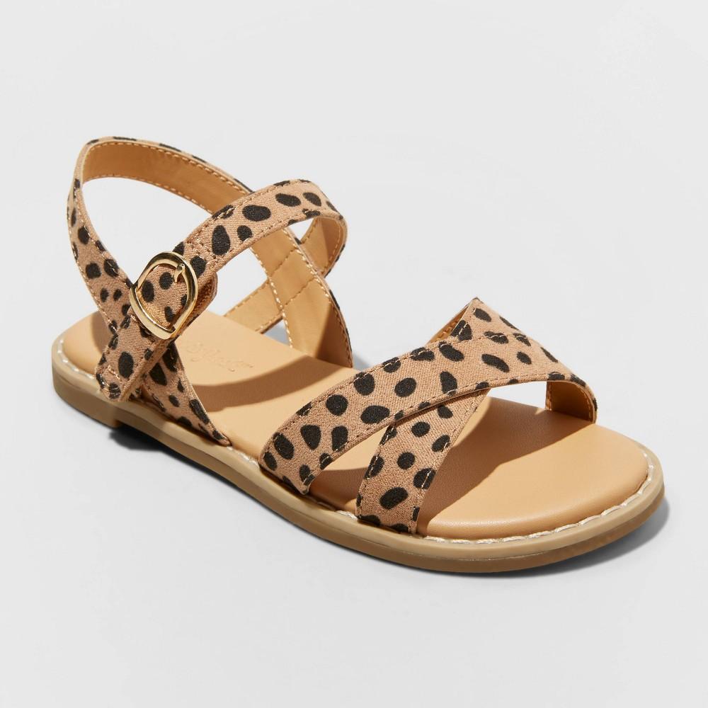 Toddler Girls 39 Serenity Criss Cross Sandals Cat 38 Jack 8482 Brown 6
