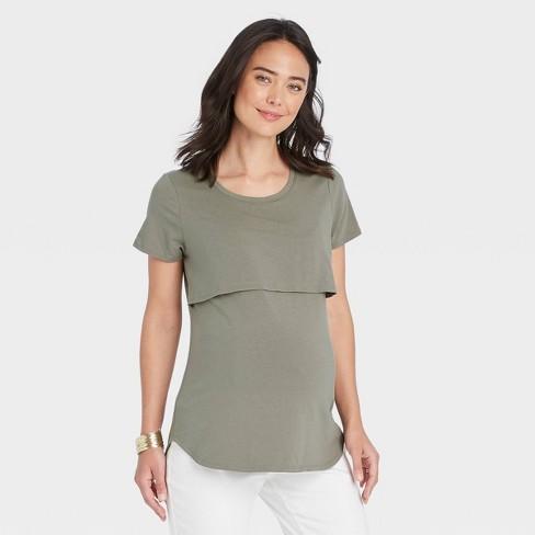 Short Sleeve Nursing Maternity T-Shirt - Isabel Maternity by Ingrid & Isabel™ - image 1 of 3