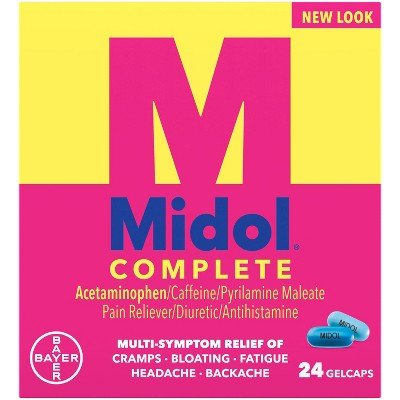 Pain Relievers: Midol Complete