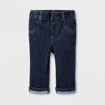 Baby Boys' Dark Wash Skinny Jeans - Cat & Jack™ Dark Denim Newborn