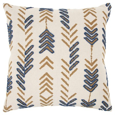 """20""""x20"""" Arrows Polyester Filled Throw Pillow Gold - Donny Osmond Home"""