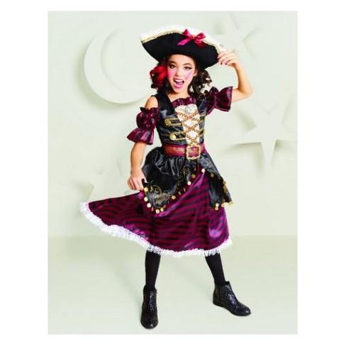 Halloween Costume 38.Girls Pirate Deluxe Halloween Costume S Hyde Eek Boutique
