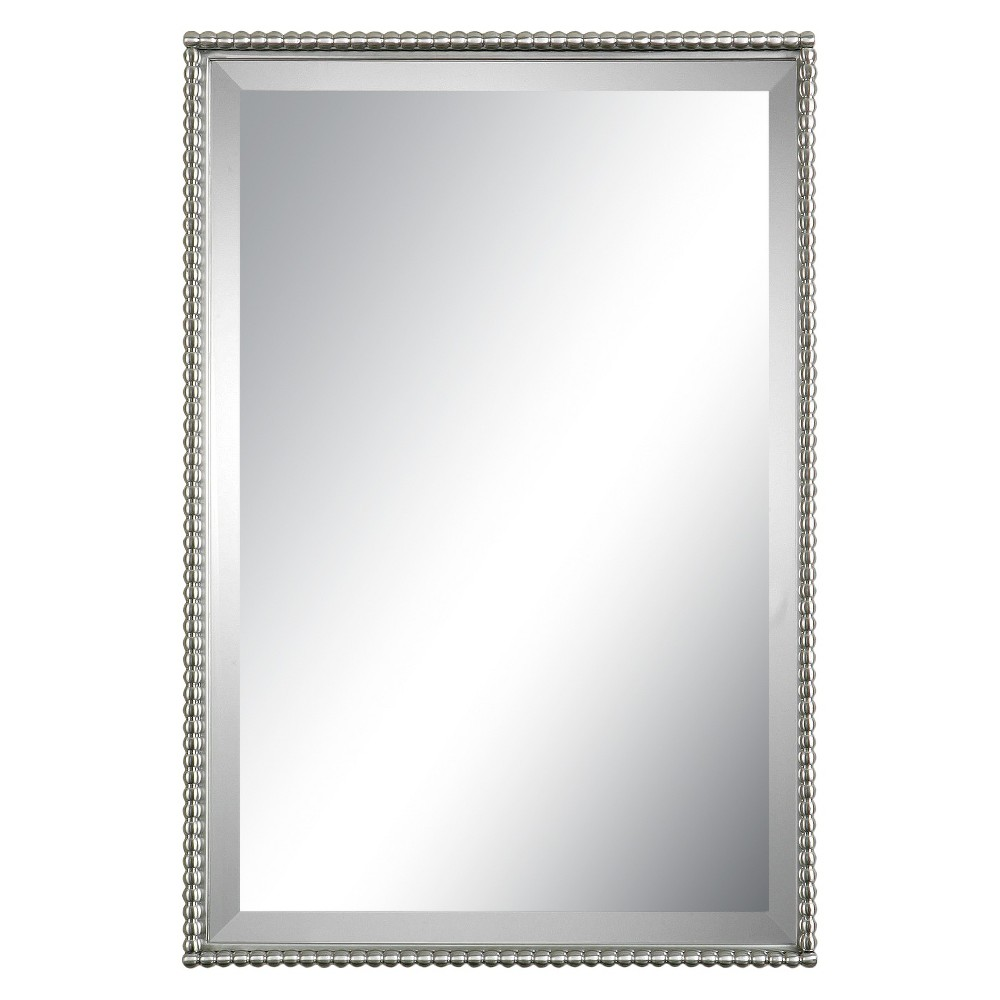 Rectangle Sherise Decorative Wall Mirror Brushed Nickel - Uttermost