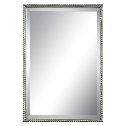 Rectangle Sherise Decorative Wall Mirror Brushed Nickel Uttermost