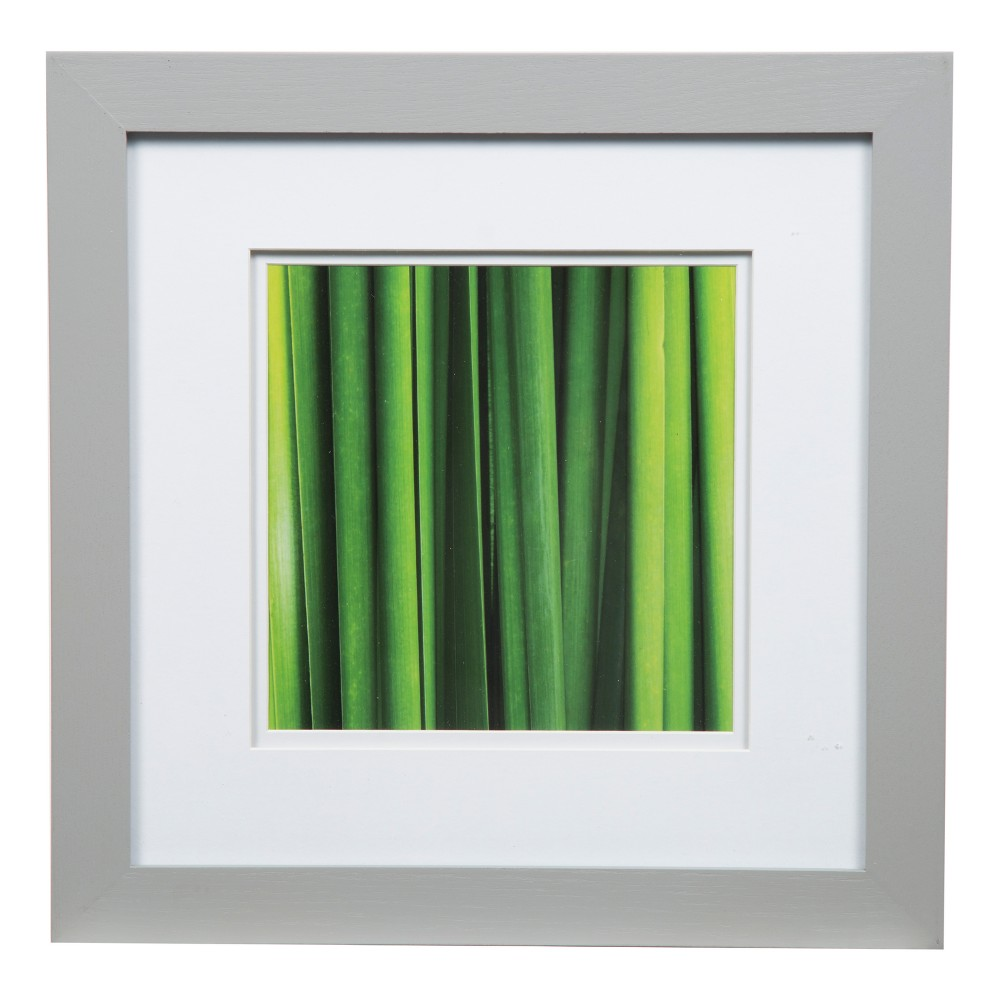 """Image of """"12"""""""" x 12"""""""" Wide Double Matted to 8"""""""" x 8"""""""" Frame Gray/White - Gallery Solutions"""""""