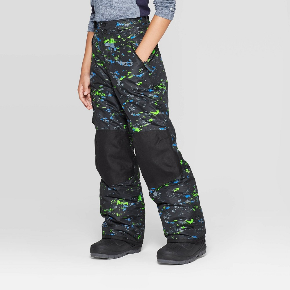 Image of Boys' Camo Print Snow Pants - C9 Champion Blue L, Boy's, Size: Large