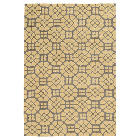GEO Luxuriously Soft Mosaic Accent Rug - Gray / Butter (2' X 3') - image 1 of 1