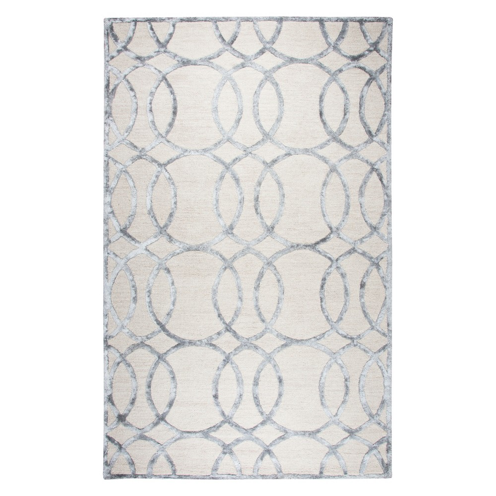 Image of Cream Geometric Rug (9'x12') - Rizzy Home