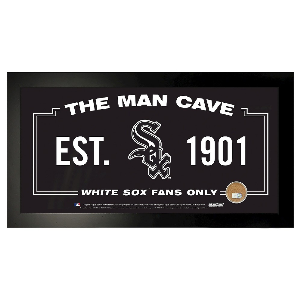 Chicago White Sox Steiner Sports 6x12 in. Framed Wall Art with Game-Used Dirt Capsule
