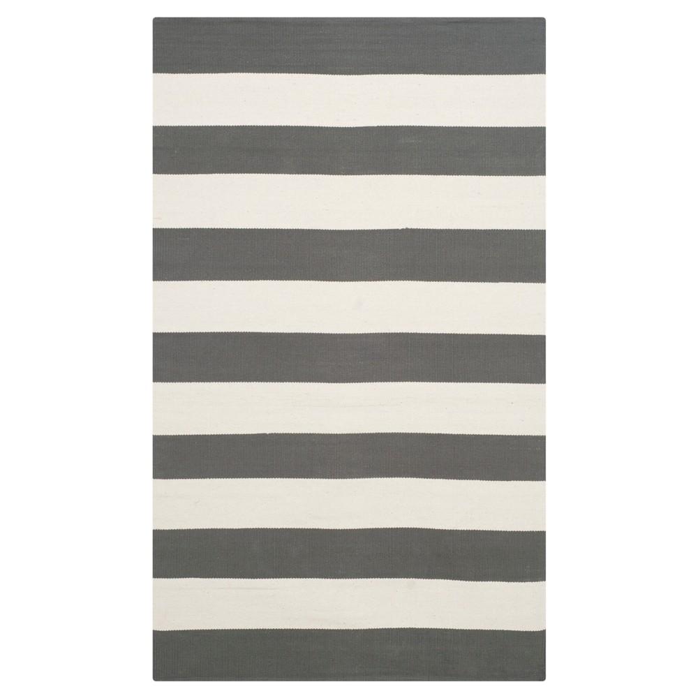 Mati Flatweave Accent Rug - Gray / Ivory (3' X 5') - Safavieh