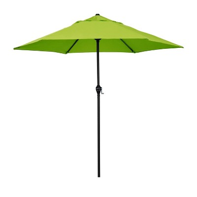 "9"" Steel Market Polyester Patio Umbrella with Crank Lift and Push-Button Tilt - Astella"