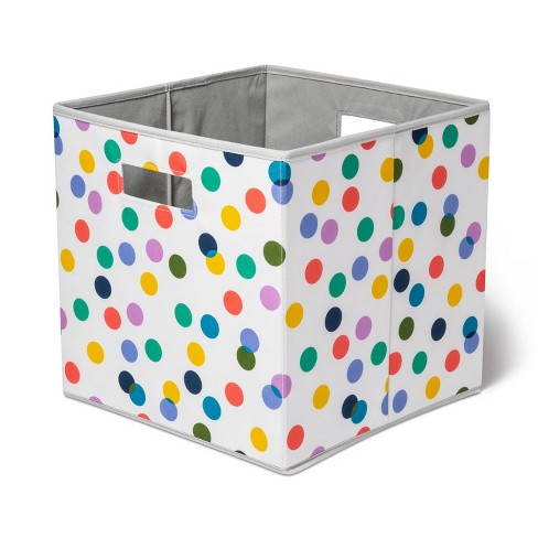 KD Bin With Multi Color Dots - Pillowfort™ - image 1 of 4