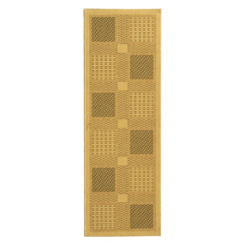"Montpellier Rectangle 2'3"" X 6'7"" Outdoor Rug - Natural / Olive - Safavieh® - image 1 of 1"