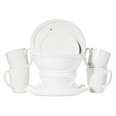 Corelle Livingware 20pc Dinnerware Set Winter Frost White