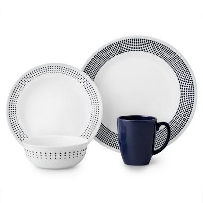 Corelle Vitrelle 16pc Dinnerware Set - Navy/White