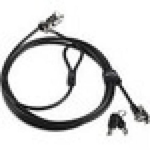 Lenovo Kensington MicroSaver 2.0 Twin Cable Lock - Carbon Steel - 8 ft - For Notebook, Desktop Computer, Monitor - image 1 of 1