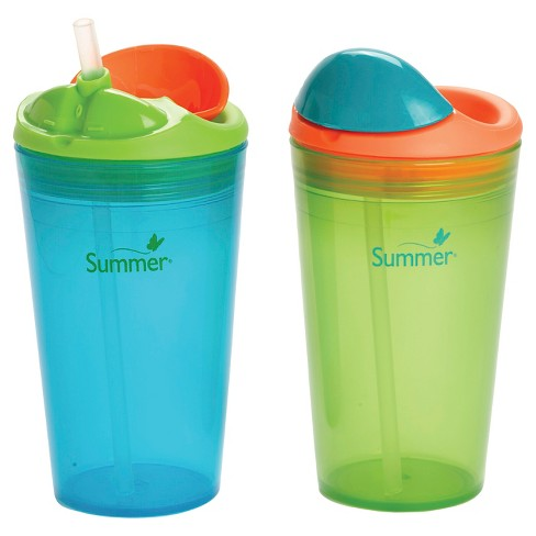 Summer Infant®  Sippy Stackers™ <BR/> 10oz Straw Cups Blue & Green 2-Pack - image 1 of 5