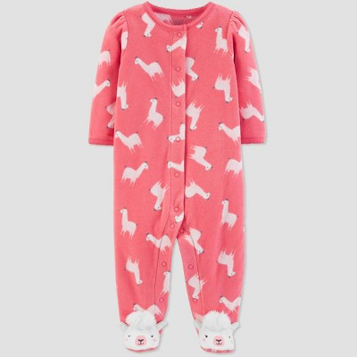 Baby Girls' Sleep 'N Play Llama 1pc Pajama - Just One You® made by carter's Peach 6M