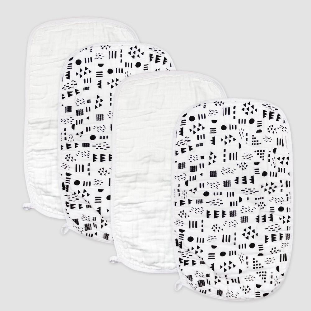 Honest Baby 4pk Organic Cotton Pattern Play Burp Cloth