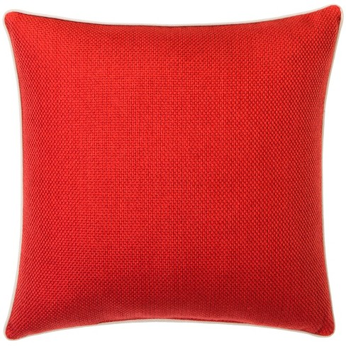 """Basketweave Toss Pillow Red (18""""X18"""") - Threshold™ - image 1 of 1"""