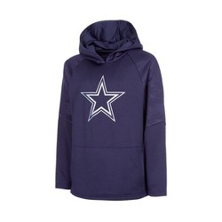 NFL Dallas Cowboys Boys' Merlin Embossed Performance Hoodie