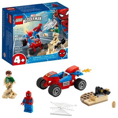 LEGO Marvel Spider-Man: Spider-Man and Sandman Showdown Collectible Construction Toy 76172