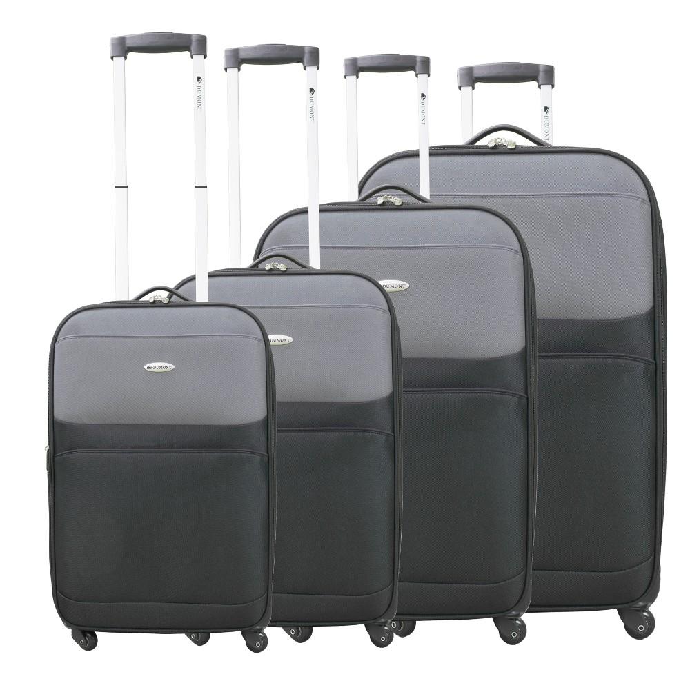 Dumont Lynx 4pc Spinner Luggage Set - Grey/ Black, Gray