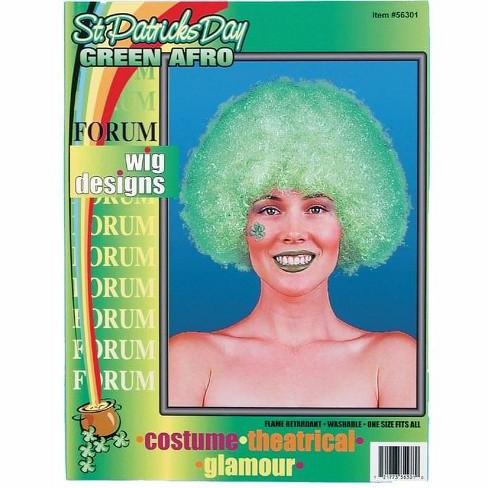 Forum Novelties St Patricks Day Green Afro Costume Wig - image 1 of 1