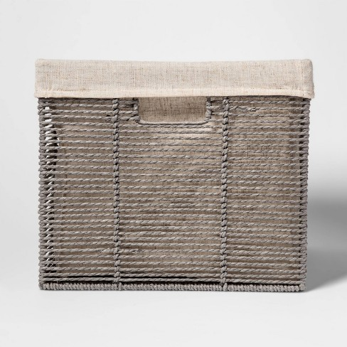 """14.75"""" x13"""" x11"""" Large Lined Milk Crate Gray - Threshold™ - image 1 of 3"""