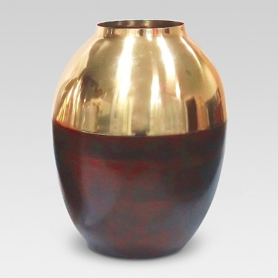 Gold and Wood Vase Small - Threshold™