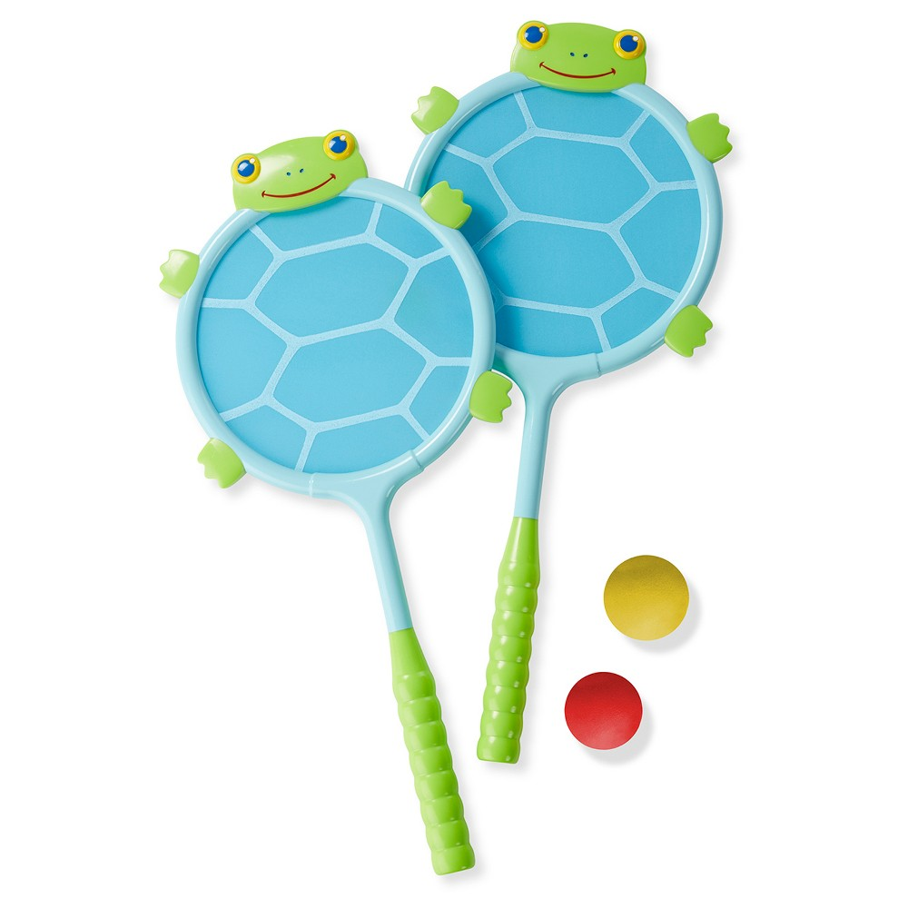 Melissa & Doug Sunny Patch Dilly Dally Racquet and Ball Game Set, Multi-Colored